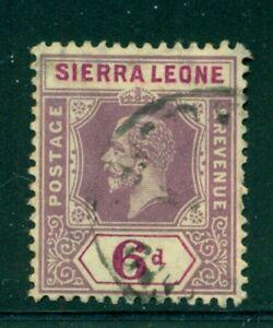 SIERRA LEONE 111 SG119 Used 1912-21 6p vio & red vio KGV Wmk Mult Crown CA Cat$7