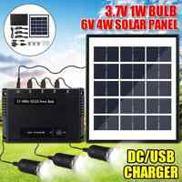 Portable Power Station Generator Camp Solar Panel LED Light Inverter Power Bank