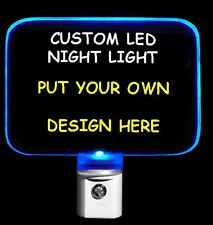 Personalized Custom LED Night Light, Design your Own Nightlight
