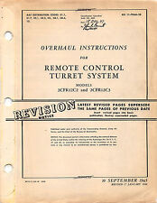 1946 P-61 Remote Control Turret System Overhaul Inst's Flight Manual - CD