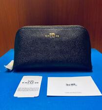 Coach Black Crossgrain Leather Cosmetic Case 17 F57857 Bag