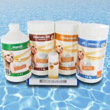 Starterset Pool Wasserpflege Chlor PH-Minus Algezid Teststreifen Thermostat