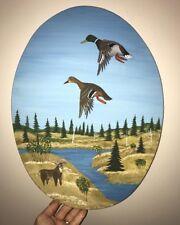Vintage Dave Kinsman flying duck plaque, Joe Gigl, duck decoy, Casey Edwards