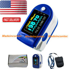 USA!! Finger Pulse Oximeter Fingertip Oxygen SPO2 PR Monitor Blue Color FDA CE