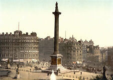 "PS29 Vintage 1890's Photochrom Photo Trafalgar Square London Print A3 17""x12"""