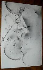 Albert Féraud encre sur papier signée datée Abstrait 1989 abstraction lyrique