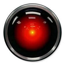 """HAL 9000 25mm 1"""" Pin Badge Button 2001 Space Odyssey Novelty"""