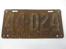 Vintage 1928 CONN  License Plate 44-024 Connecticut