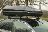 Heavy Duty Waterproof Gloss Grey  320 Litre Travel Storage Luggage Roof Bar Box