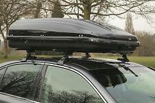 Heavy Duty Impermeable Brillo Negro 320 Litro De Viaje Equipaje Caja De Barra Techo de almacenamiento de información