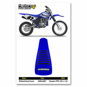 2000-2007 YAMAHA TTR 125 L - TTR 125 LE ALL BLUE with BLACK RIBS SEAT COVER