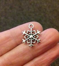 Pack of 12 Tibetan Silver Snowflake Charm 18mm x 14mm Frozen