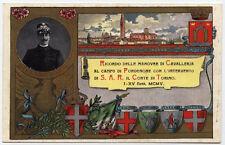 cartolina militare RIPRODUZIONE-MANOVRE CAVALLERIA CAMPO DI PORDENONE
