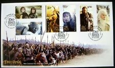 2003 NEW ZEALAND LORD OF THE RINGS RETURN OF THE KING FDC STAMPS FRODO GANDALF