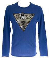 Maglia t-shirt girocollo uomo GUESS a.M44I19 T.S c.A737 ASTRO BLUE
