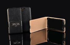 Echt Leder Tasche für Huawei P9 Lite Case Etui Schwarz Hülle Leather Flip P 9