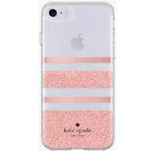 KATE SPADE NEW YORK PINK GLOSSY & CLEAR PROTECTIVE HARDSHELL CASE FOR IPHONE 8