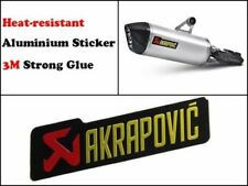 AKRAPOVIC Metal Exhaust Sticker Heat Proof Yamaha Kawasaki Ducati Ninja R1 *UK*