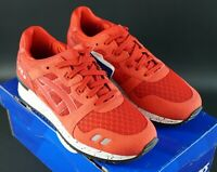 ASICS GEL-LYTE III NS RED / RED SIZE UK 4 EU 36.5 OG DS RONNIE NO STITCHING RARE
