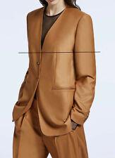 "🔷 MAX MARA Blazer 12USA 46IT 14GB 42D 44F   ""CINA"" Wool 100% V Neck in Brown"