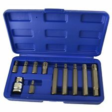 """1/2"""" hembra Ribe Bit Set M5-M14, 30 y 75mm 11pcs"""
