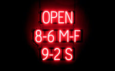 SpellBrite Ultra-Bright Open 8-6 M-F 9-2 S Sign (Neon look, Led performance)