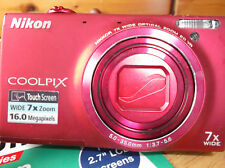 Nikon COOLPIX S6100 16.0MP Digital Camera - Red-VERY GOOD CONDITION.