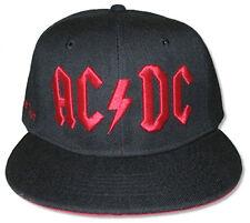 AC/DC-Red 3D Logo-Black OSFA Snap Back Baseball Cap