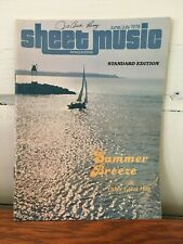 Sheet Music Magazine June/July 1978 Issue Summer Breeze & Other Great Hits