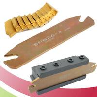 11 Pcs/Set 3mm-Coated Carbide Lathe Grooving Cut Off Tool Holder Inserts Tools