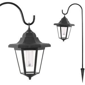 GardenKraft Set of 2 Solar Powered LED Shepherd Hanging Decorative Lantern Light