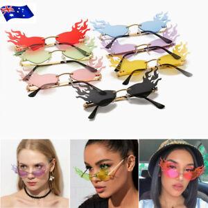 Flame Sunglasses Women Rimless Wave Sun Glasses Metal Shades Eyewear Fashion