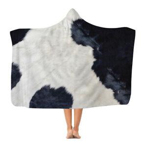 Cow Print - Hooded Blanket