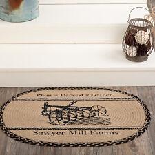 Sawyer Mill Harvest Decor Area Rug Floor Mat Jute Oval or Rectangle Farmhouse