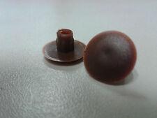 160 Abdeckkappen (0,06€/Stk.) braun 5 mm Kunststoff Kappen Schrauben Abdeckung