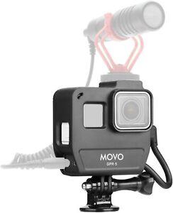 Movo GPR-5 Media Housing GoPro Case Compatible with GoPro HERO5, HERO6, HERO7