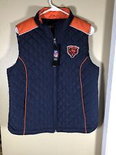 New with Tags Chicago Bears NFL Team Apparel Vest Womens Size Large