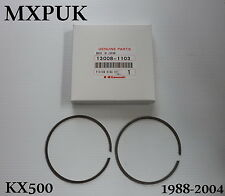 KX500 1988 PISTON RINGS GENUINE KAWASAKI 1989  KX 500 MXPUK 13008-1103 (223)