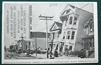 San Francisco Earthquake Damage orig 1909 SF Manufacturing Co advert postcard