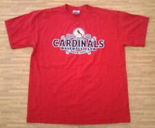 St. Louis Cardinals Baseball Club Nike Red Shirt ~ Men's Large L ~ NL SS MLB