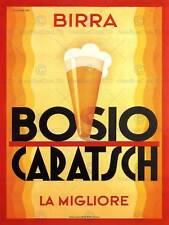 Alcol birra Bosio Caratsch ITALIA Vintage Poster Art Print 12x16 pollici 777py