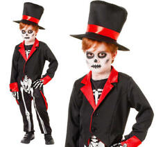 Boys Mr Bone Jangles Costume for Halloween Skeleton Fancy Dress Outfit to Fit Child Approximately 146cm Tall