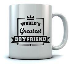 World's Greatest Boyfriend Coffee Mug - Valentine's Gift For Couples Sturdy Mug