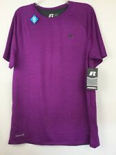 New RUSSELL Training Fit Mens Tee Shirt M 38-40 Dri-Power 360 Ventilation Purple