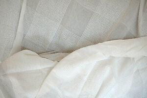 IKEA 2 Schlaufen Gardinenschals Vorhänge 105 cm x 255 cm Baumwolle weiß (creme)