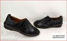 ★ LA BOTTINE SOURIANTE ★ Chaussures Taille 38 Cuir Noir Réglisse !