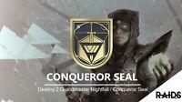 (PC/PS4/XBOX) Destiny 2 grandmaster nightfall/Conqueror Seal