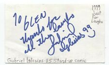 Gabriel Iglesias Signed 3x5 Index Card Autographed Comedian Comic Actor