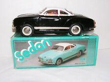 Vintage Tin Toy Friction Car Karmann Ghia Sedan Black MF743 China Original Box