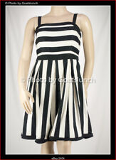 City Chic Stripe Fit & Flare Dress Size 14 (XS) Summer Holiday Smart Casual NWOT